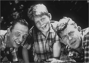 Don Knotts, Ron Howard, and Andy Griffith on 'The Andy Griffith Show'
