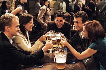 Neil Patrick Harris, Cobie Smulders, Josh Radnor, Jason Segel and Alyson Hannigan on 'How I Met Your Mother'