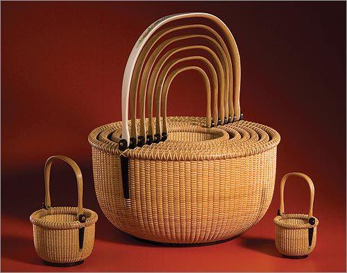 Nest of Nantucket lightship baskets, Karl Lindquist and Robert Frazier