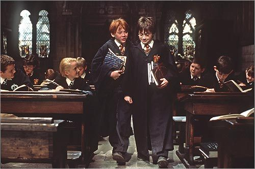 Ron Weasley and Daniel Radcliffe in 'Harry Potter and the Sorcerer's Stone'
