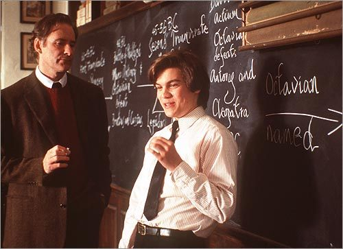 Kevin Klin and Emile Hirsch in 'The Emperor's Club'