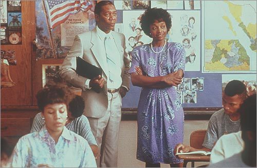 Morgan Freeman and Beverly Todd in 'Lean on Me'