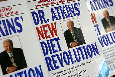 The Atkins Diet The low-carb king, the late Dr. Robert Atkins, introduced this diet in the early 1970s and became one of the biggest-selling diet book authors of all time. Casting aside regard for calories, Atkins preached cutting down on the carbohydrates found in pastas and breads, and the sugars, even in some fruits, like bananas. Some considered his plan to be potentially fatal.