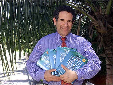 The South Beach Diet If you read the official website, southbeachdiet.com , you'd hear that 'the South Beach Diet is truly a food lover's diet. It's about living well and loving what you eat. But it's also practical, flexible, easy, and effective.' The plan emphasizes 'good carbs' and 'good fats,' and was a best-selling diet book in 2004 by Dr. Arthur Agatston (pictured). Its popularity has since waned.