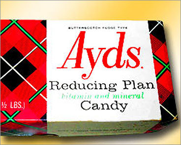 The Ayds Plan A relic of days gone by (with a most-unfortunate name), these pill, or candy, suppressed the appetite and gained popularity in the 1970s. They debuted in television commercials in the early 1980s, mere months before AIDS broke out. The ads have since become a YouTube sensation ('Question: Why take diet pills when you can enjoy Ayds?').