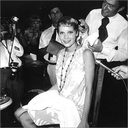In 1968, Vidal Sassoon was paid $5,000 to cut Mia Farrow's hair on the set of 'Rosemary's Baby' while dozens of photographers captured the moment. Her pixie cut became as emblematic of the era as miniskirts and bell bottoms.