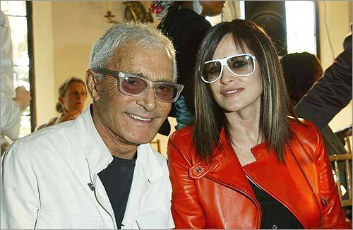 Vidal Sassoon and his wife Ronnie attended the Los Angeles debut of designer Alexander McQueen's Spring/Summer 2004 Collection at Chateau Marmont on January 21, 2004, in West Hollywood, California.