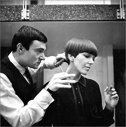 Clothes designer Mary Quant, one of the leading lights of the British fashion scene in the 1960s, had her hair cut by Vidal Sassoon. His haircuts were so influential during this period that Quant declared him 'the Chanel of hair.'
