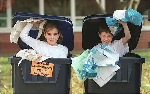 5. Raid your recycling bin (and your neighbor's, too!). See if anything reminds you of something you could sport as a costume. For example, soda bottle caps might remind you of robot knobs. This could be a great starting place for a full costume!