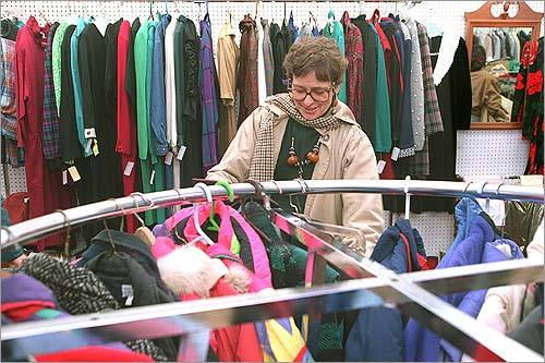 6. Go to a local thrift store with a huge selection of not-so-fashionable clothing and see if anything jumps out at you. Is there a bright orange oversized jumpsuit? It could be the perfect beginning of a jack-o-lantern or a prisoner costume.