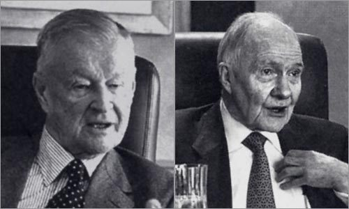 Zbigniew Brzezinski (left) and Brent Scowcroft