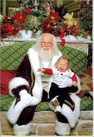 Cathy sent this photo of her granddaughter Madison with Santa at the Burlington Mall. 'Madison calls Santa HOHO!' she writes. 'This is her second Christmas. She is 14 1/2 months old.'