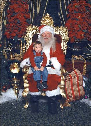 JJ's parents couldn't have asked for more: 'A successful visit with Santa Claus at 20 months old!' writes Chelsea.