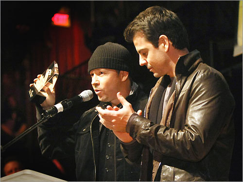 Donnie Wahlberg (left) and Jordan Knight