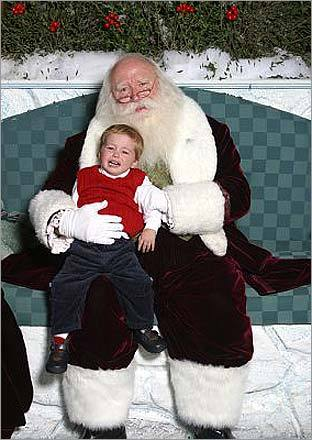 Christmas memories: Ben sat with Santa in 2003, when he was just 2.