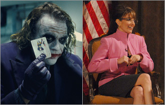 Heath Ledger and Tina Fey