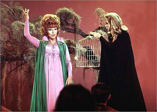 Endora on 'Bewitched' (Agnes Moorehead) Indeed, this mother-in-law was a witch. She couldn't stomach mortals, most of all son-in-law Darrin, whose name she loved to mangle ('Derwood'). But Endora's contempt was irresistibly stylish, and she is an icon for the ages.