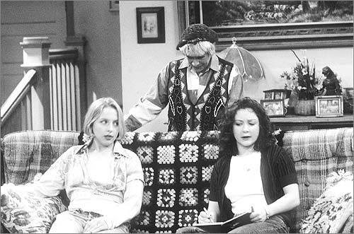 Bev on 'Roseanne' (Estelle Parsons) Sometimes your mother-in-law makes your spouse unhappy, and then your spouse makes you unhappy. Roseanne's mother was a cranky, conservative pain in the neck whose misbehavior was not so fun for the whole family.