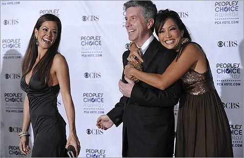 Brooke Burke, Tom Bergeron, and Carrie Ann Inaba