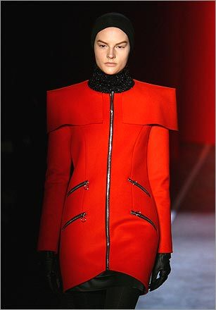Attention, Earthlings: Jonathan Saunders Fall 2009 look is a little out there. As in, the final frontier.