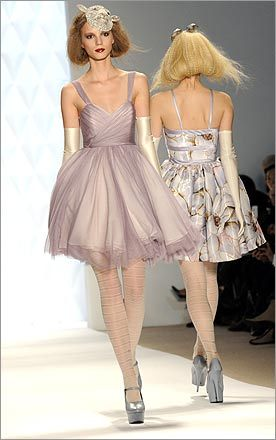 Poofy is in style at the fall 2009 collection of Erin Fetherston.