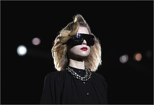 Or shades can just compliment a nice black cut from Marc Jacobs.