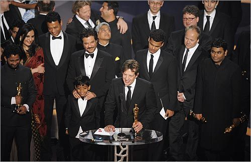 The cast and crew of 'Slumdog Millionaire'