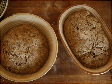 The shapes, including a smooth ball, fit neatly into his willow baskets (you can also use loaf pans).