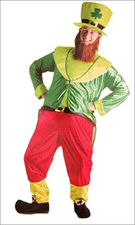 Leprechaun costume : $59.98 Want to be the center of attention? Get plenty of smiles at your St. Patrick's Day party with this leprechaun costume. Do a jig, stroke your beard, solicit wishes, or just hang out — it's going to be funny no matter what you do.