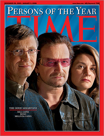 Bill Gates, Bono, and Melinda Gates