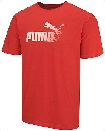 Windy Logo USP Tee, $22, from Puma, www.store.puma.com . Guys: Unleash your inner animal on the track with this bold top for the sporty see-and-be-seen set.