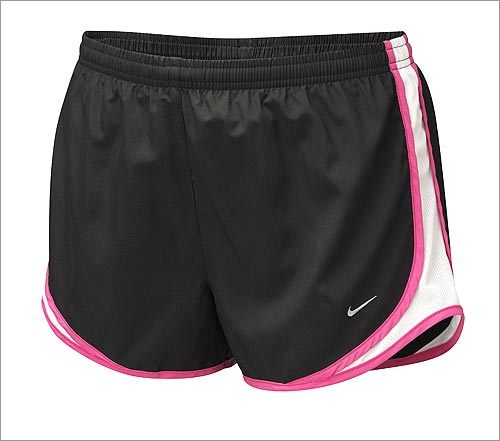 Dri-Fit Tempo Shorts , $28, from Nike, www.nike.com . These shorts come in more than 25 colors, including coral, lime green, and cobalt blue. And the cut? Just right.