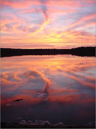 A summer evening on Yawgoog Pond in Rockville, R.I.