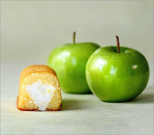 One Hostess Twinkie equals 150 calories. Compare that with two apples, at 144 calories, and you're getting roughly the same calories from two very different foods. But are all calories created equal? Or do some count more than others? Check out these comparisons of different food choices in the same calorie-range, and tell us which ones you think go the furthest. Then, get the answers on the following slide. Keep in mind: the results may surprise you.
