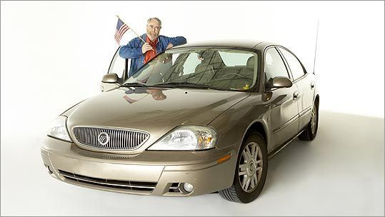 Charles P. Pierce and his 2005 Mercury Sable.