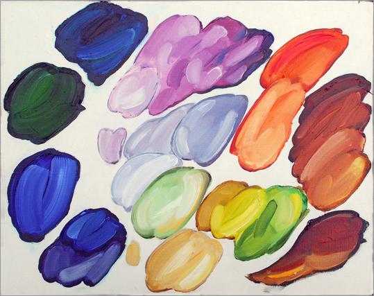Joe Fig's rendering of Chuck Close's palette
