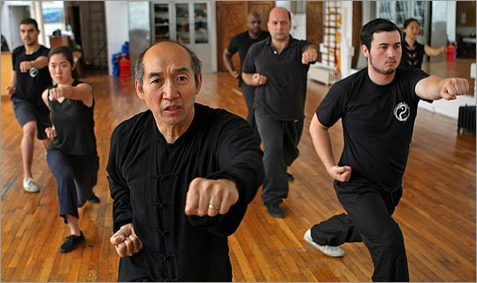 Yao Li, martial arts master, teaches students from all walks of life at his Back Bay studio.