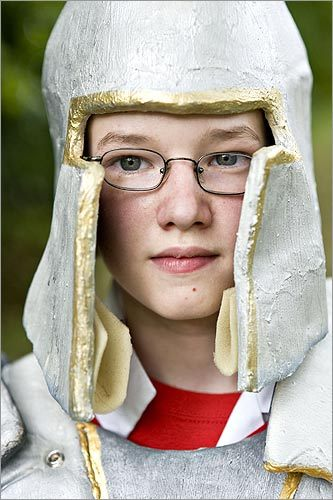 Daniel Honeywell, 12, in costume. Some campers looked forward to attending a two-week overnight camp later this month in July, where the storyline and fantasy setting promised to be more elaborate.