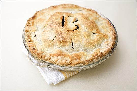 Butter and shortening crust This uses shortening for its flakiness, butter for richness, an egg to help make the dough easy to handle, and a little baking powder so the top is smooth after baking. Tasters: 'My favorite. Tastes buttery, has real flavor.' 'Handsome, substantial, buttery but not overwhelming.' 'The taste and texture are nice and clean and allow the filling to be the star.' 'Blank flavor, blank canvas. Soooo pretty. The other tops fell and rolled into peaks and valleys, while this top stayed sky high.' 'Slightly sweet, less buttery.' Kitchen notes: Butter-shortening crust, which contains an egg, is made in a food processor. Rolling, patching, and crimping are all a breeze because the egg acts as a kind of glue. This pastry feels and looks good every step of the way. Recipe