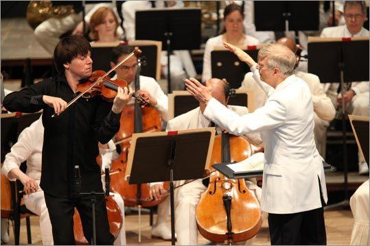 Joshua Bell and Herbert Blomstedt