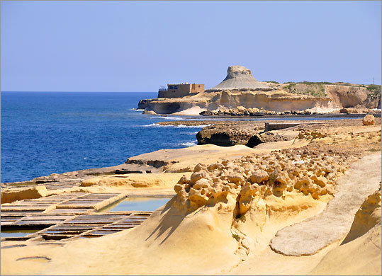Xwejni Bay on Gozo
