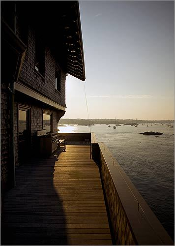 The Porch At Clingstone Gives A View Of Narragansett Bay As Does