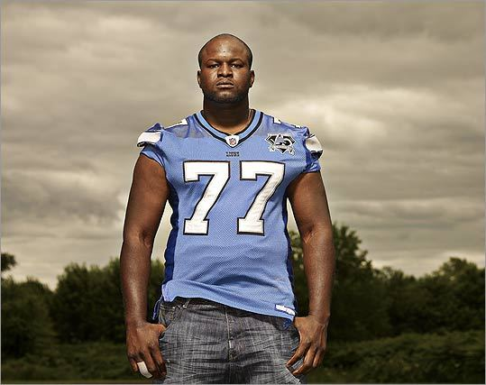Detroit Lions offensive lineman and Somerville native Gosder Cherilus.