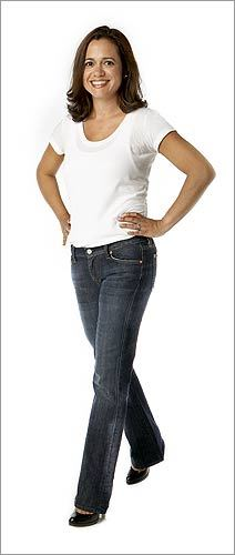 Natasha Espada , 39, architect, Needham PROBLEM At 5-foot-3, Espada says she 'has issues with the length of jeans,' though she loves their versatility and comfort. Her perfect pair would make her legs look longer. SOLUTION 7 For All Mankind cotton-spandex petite boot-cut jeans, $155 It's all about proportions: The pocket placement flatters a petite body, and the rise fits comfortably. The petite sizing means the knees hit the right spot. With a shorter inseam, the jeans don't need to be hemmed.
