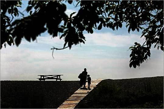 the boardwalk at Goldthwait Beach