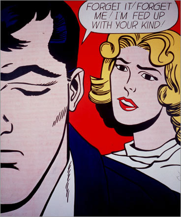 Roy Lichtenstein's Forget it! Forget me! 1962