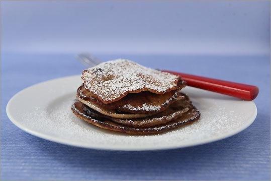 Blueberry whole-wheat pancakes