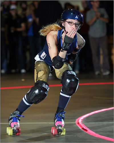 Boston Massacre's 'Pussy Venom' blew the audience a kiss while being introduced. The roller derby season lasts from February through November, though the last regular season match is in October. View the schedule of upcoming matches and events.