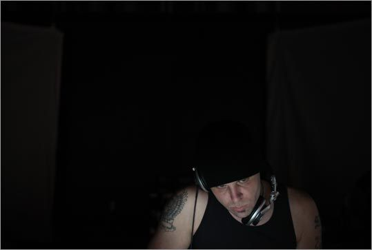 New York artist Edgey performed a set on Sept. 27 during Ordnance at the Armory, a multimedia dance night that incorporated DJs, drummers, and video artists who played a mix of industrial, breakcore, and IDM (intellectual dance music).