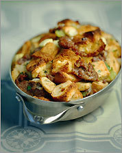 Sausage and French bread stuffing
